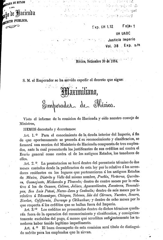 Decreto por maximiliano for Decreto ministerio del interior